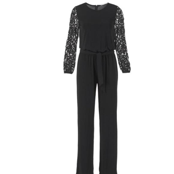 20fc5e4730 Michael Michael Kors Black Lace Sleeve Jumpsuit. M_5ae359e7a4c485f50b28644a
